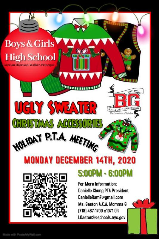 BGHS Ugly Sweater PTA Meeting