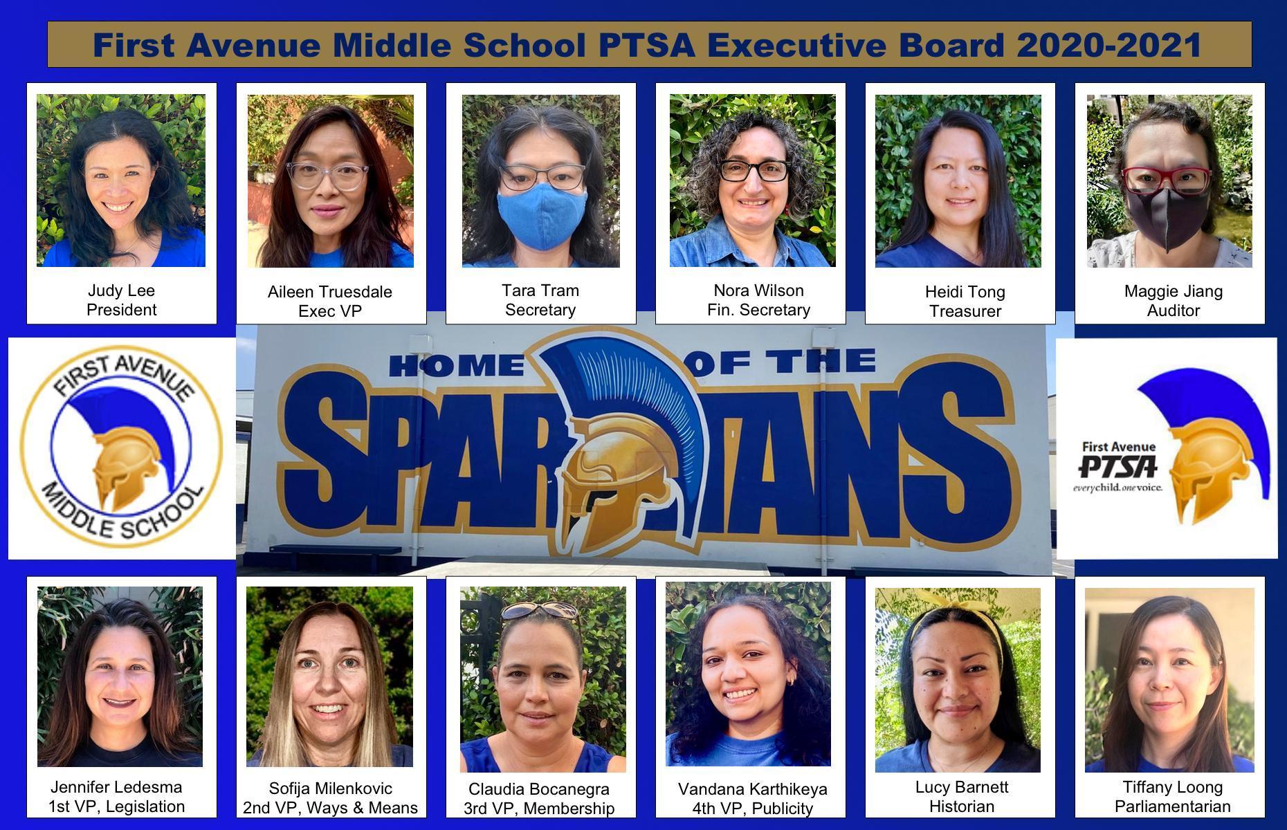 2020-2021 PTSA Board Members