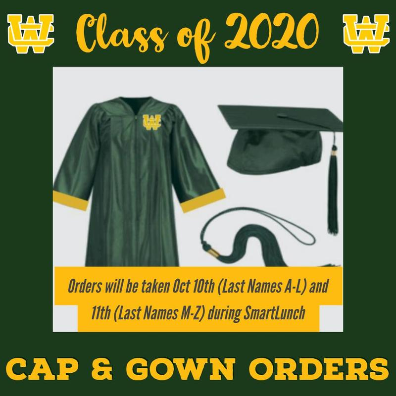 Click for WCHS Class of 2019 Cap & Gown Orders, Class Rings, and Letter Jackets Thumbnail Image