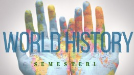 World on hands image