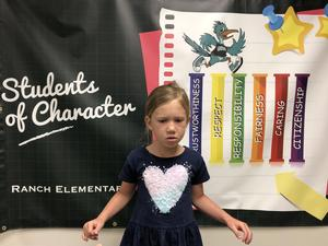 Madisyn Rainey Student of the Month for April