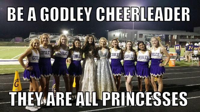 Become A Godley Cheerleader, They are all princesses