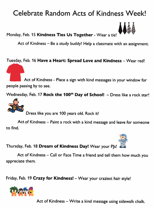 Random Acts of Kindness flyer