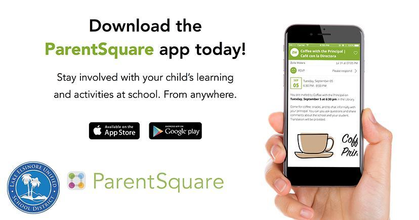 Download the ParentSquare App today (English)