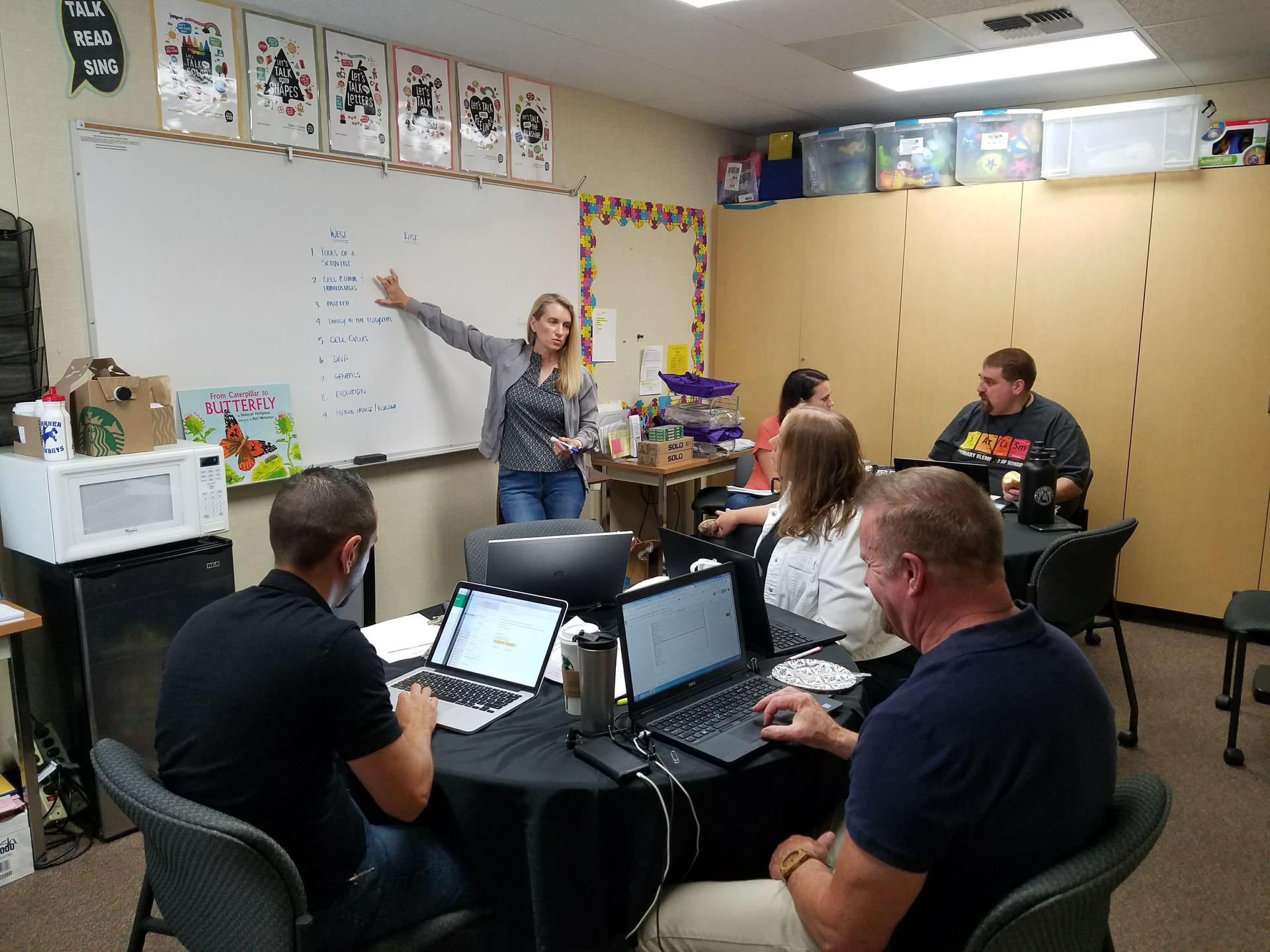teachers planning science lessons