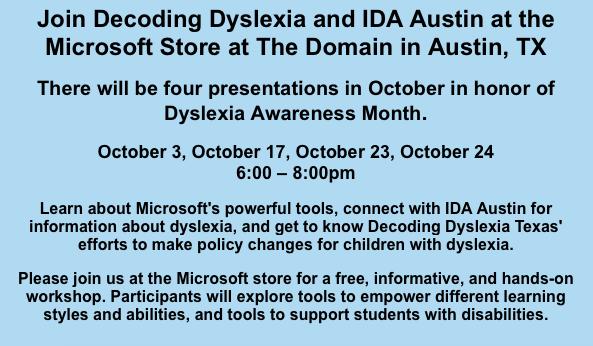 October is Dyslexia Month!! Thumbnail Image