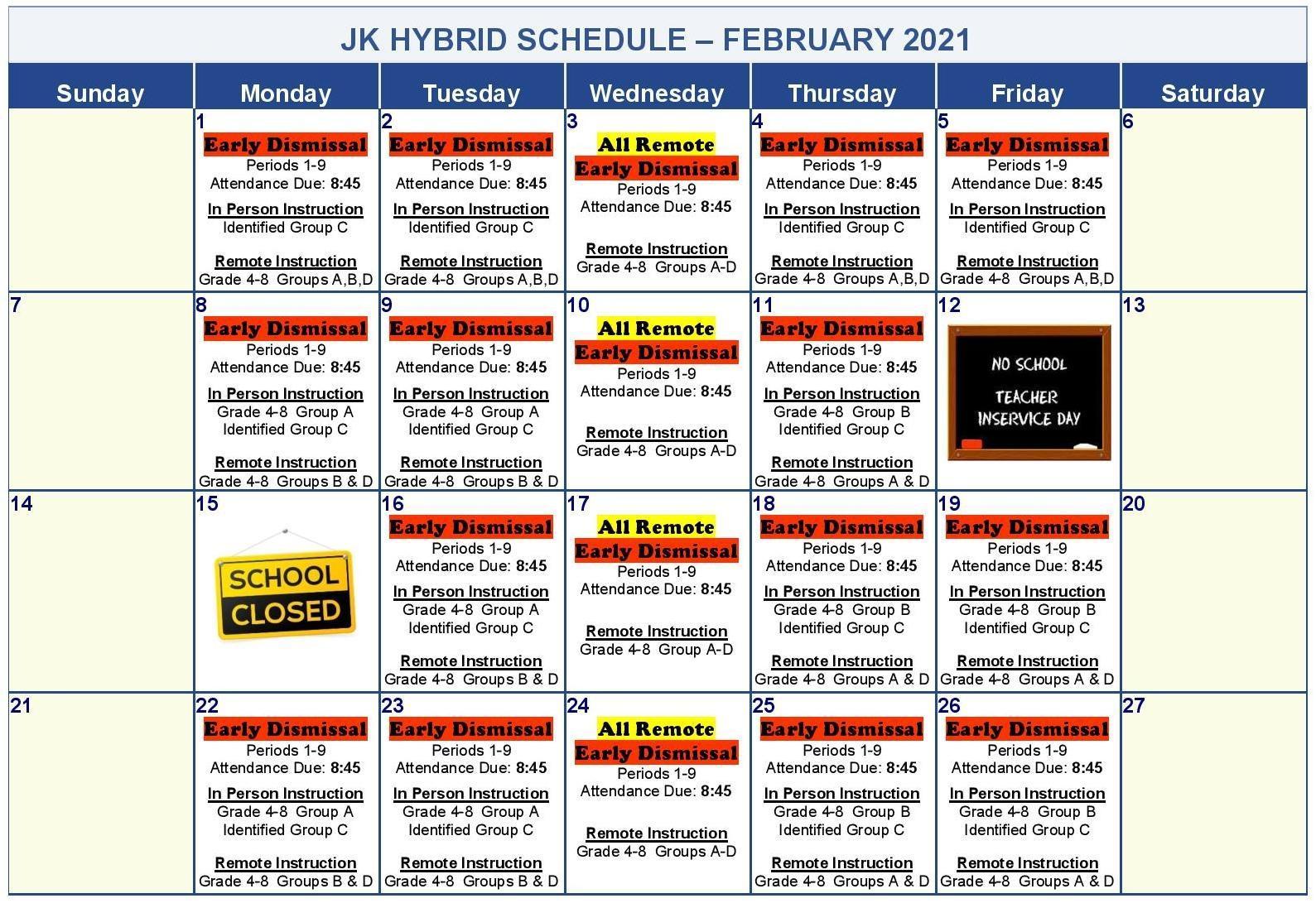 HYBRID LEARNING BEGINS 2/1/21 Image