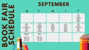 Book Fair Schedule graphic