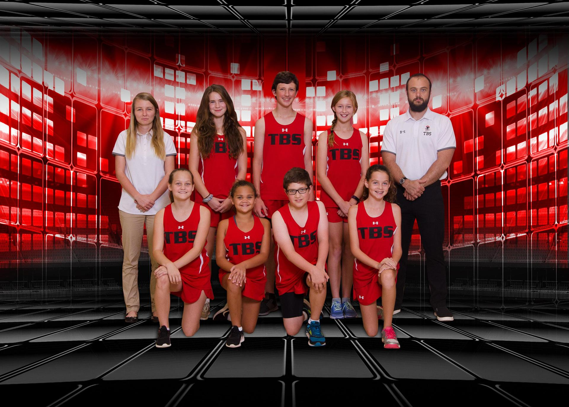 2018 Middle School Co-Ed Cross Country Team