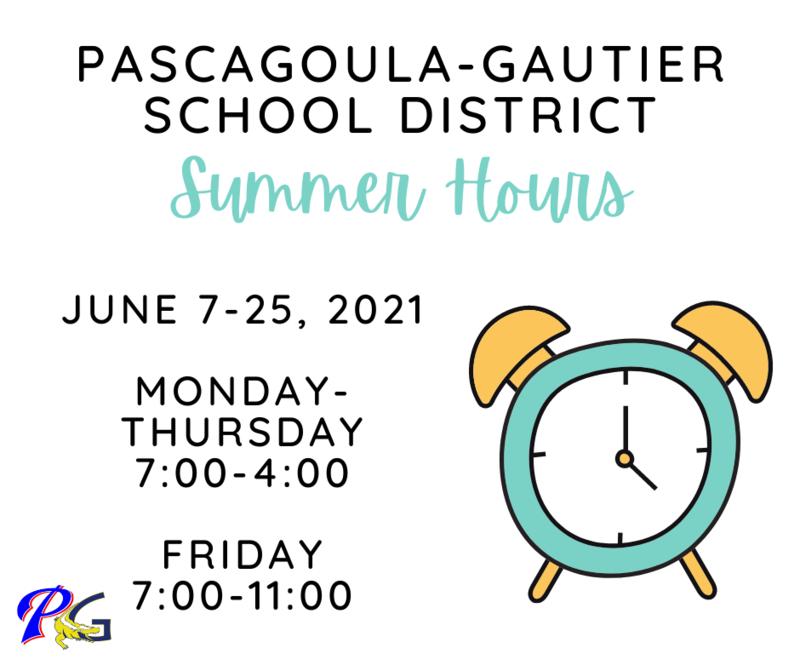 summer hours for PGSD