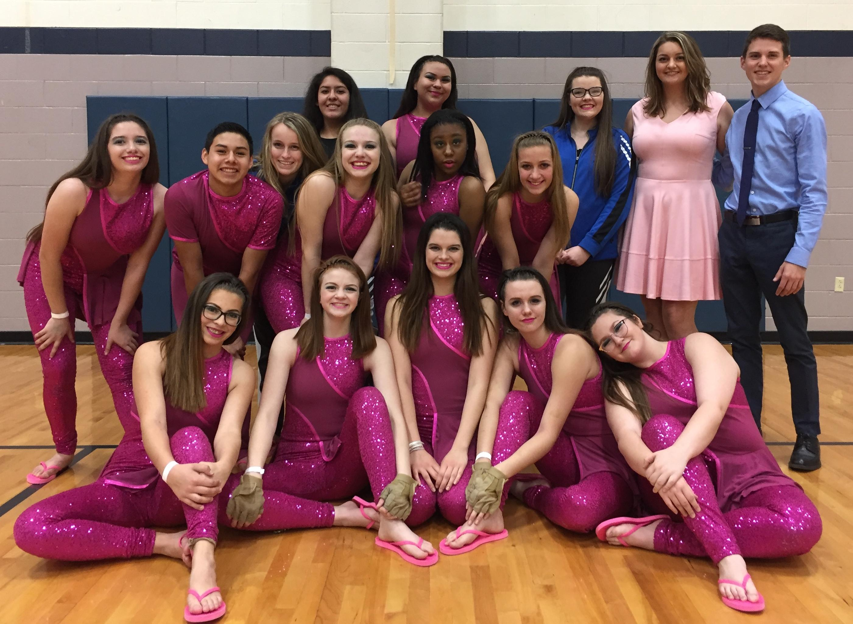 Brewer Winter Guard Finishes in Top 10 of North Texas Colorguard Championships