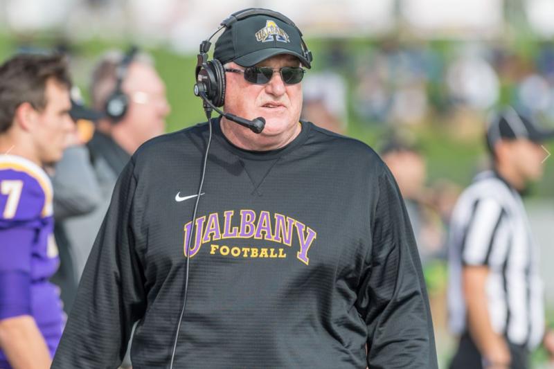 Greg Gattuso coaching at University at Albany