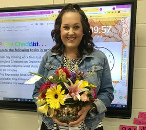 Alie Brantly, Lexington Two's District Teacher of the Year