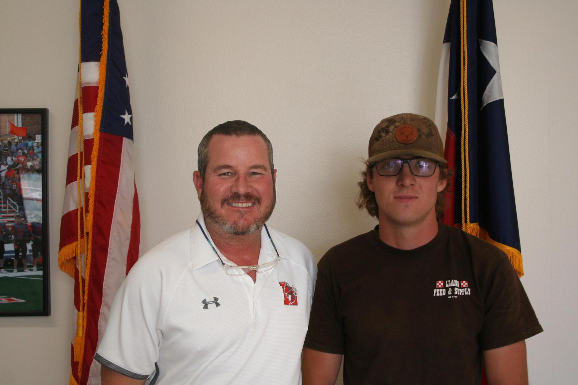 Mr. Payne and Tyler Westermann