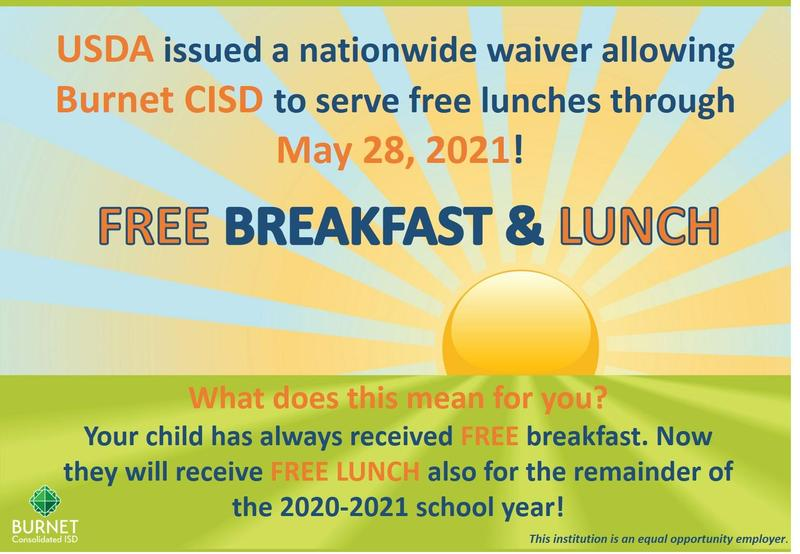 FREE Breakfast and Lunch Continues... Thumbnail Image