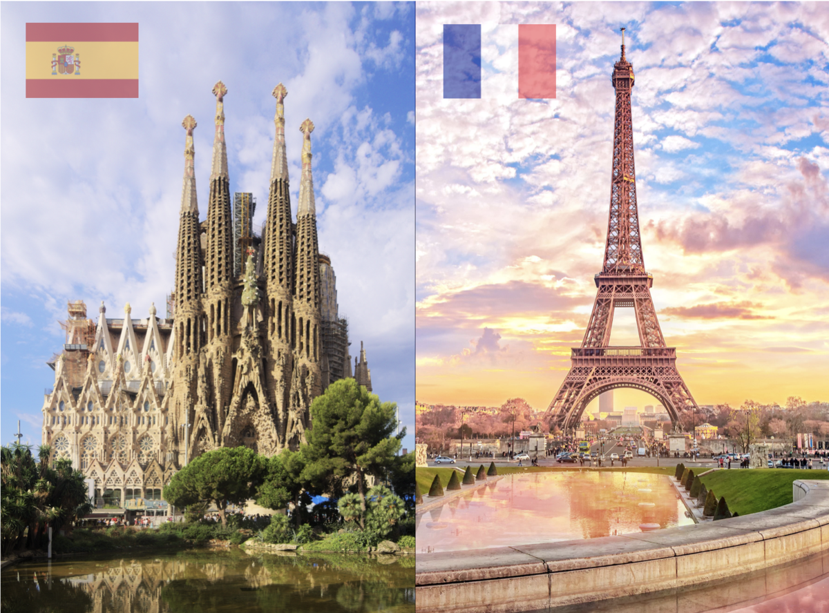 Spain-France Graphic