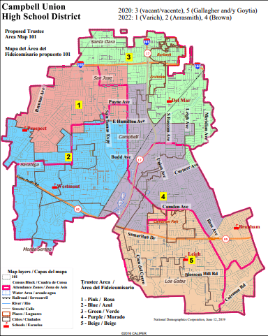proposed trustee area map 101