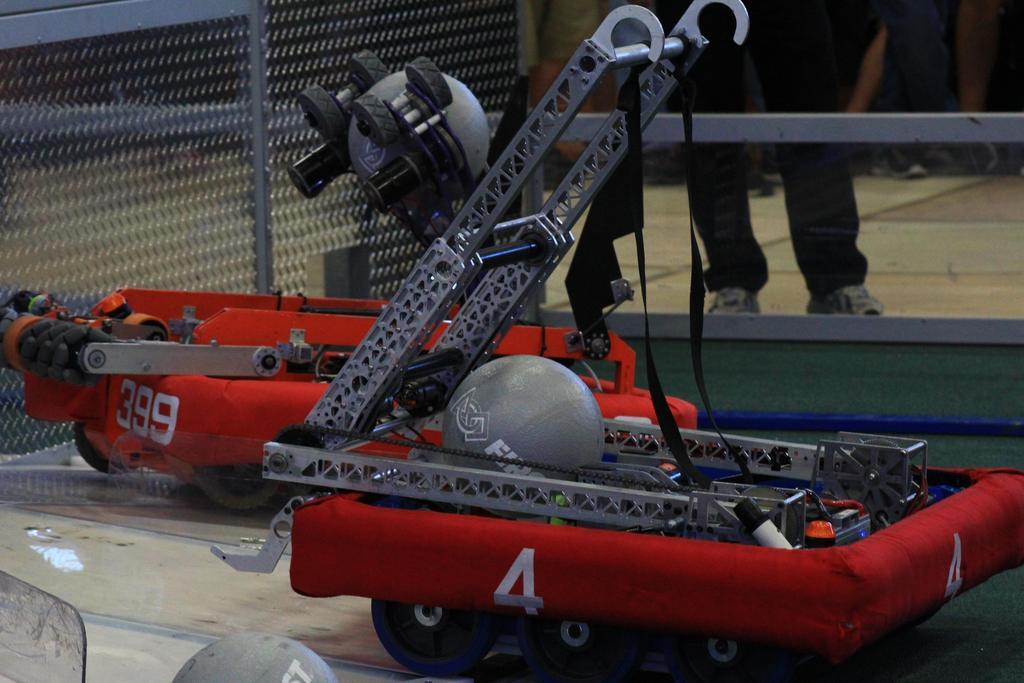 Main robot preparing to launch Boulder