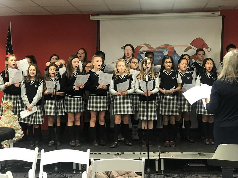 PJMS Honors Choir sings Christmas carols on 102.3 WSUS-FM radio Thumbnail Image