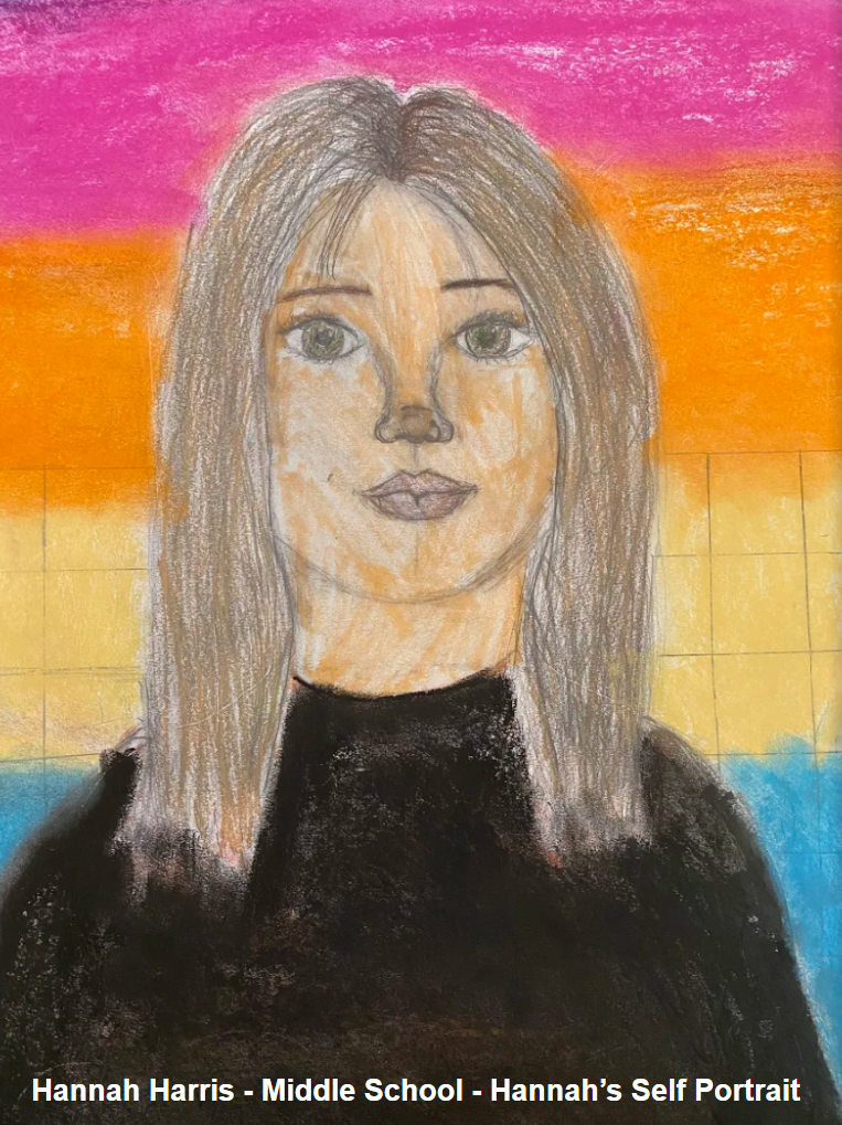 Hannah Harris - MIddle School - Self Portrait