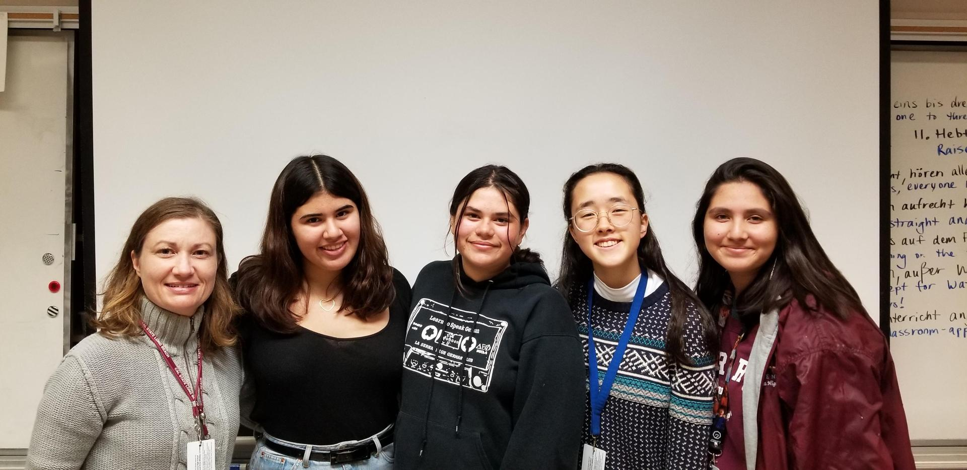 photo showing the 4 winners of the CIEE travel scholarship