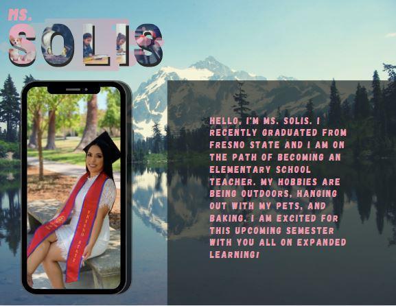 Meet Ms. Solis!
