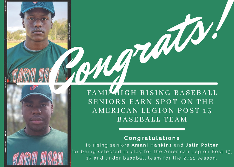 FAMU High Baseball Players Selected for American Legion Post 13 Team Featured Photo