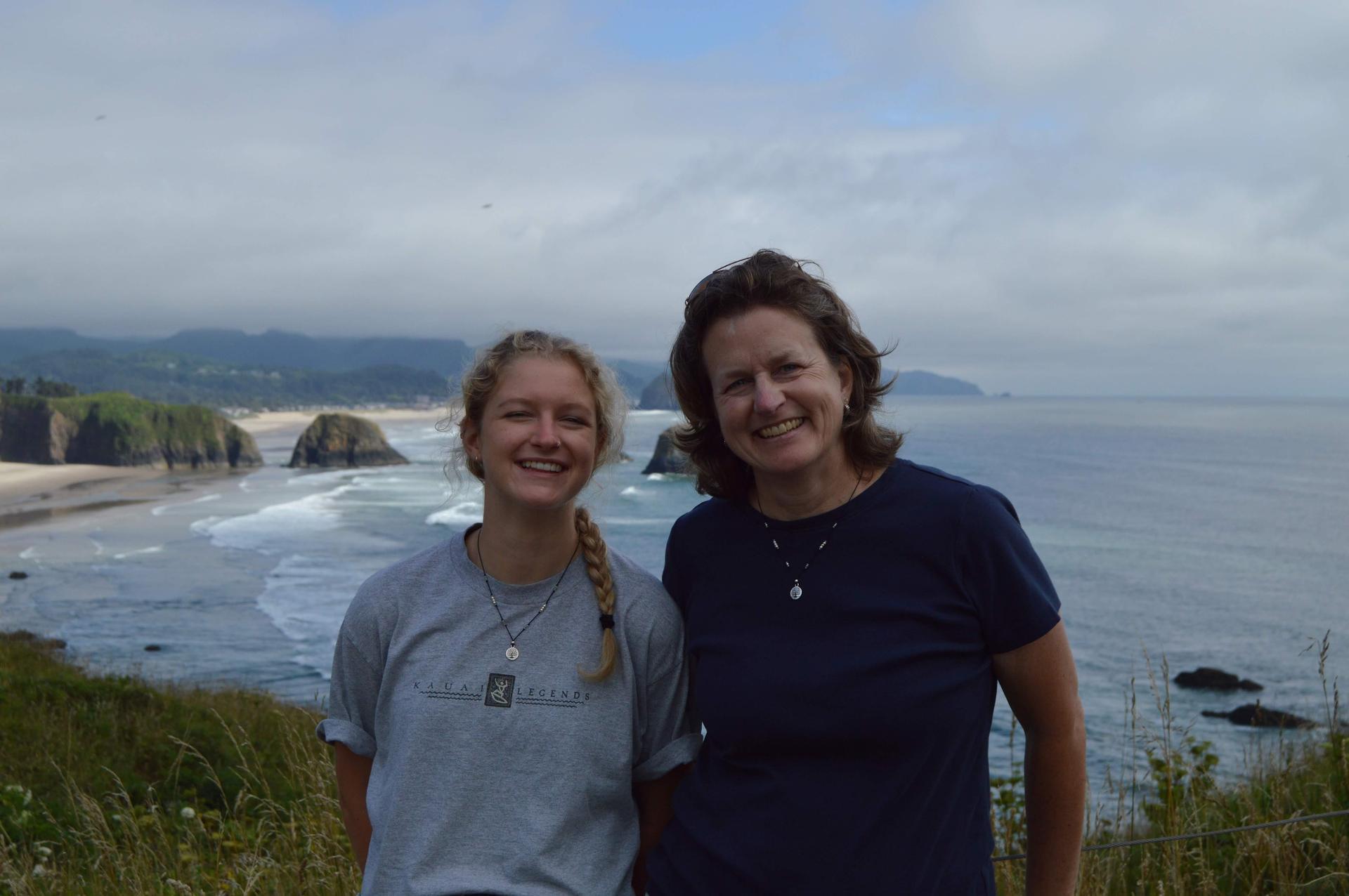 Megan & I at Cannon Beach, OR