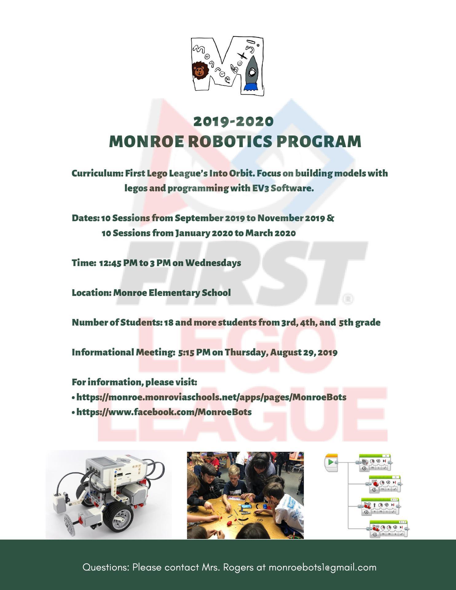 2019-2020 Program Flyer