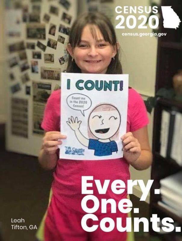 Census 2020 Coloring Contest Featured Photo