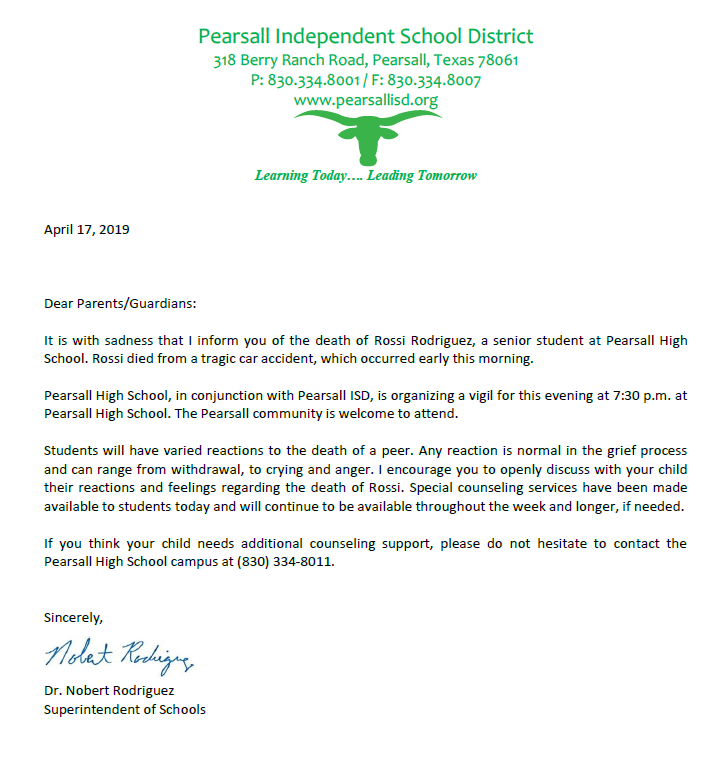 Letter from Superintendent Thumbnail Image
