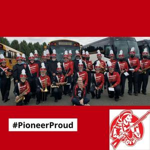 Photo of Southbridge High School marching band with