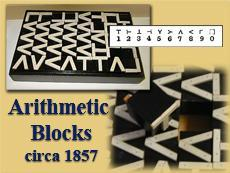 #ThrowbackThursday: Image of our 1857 Arithmetic blocks used to teach math