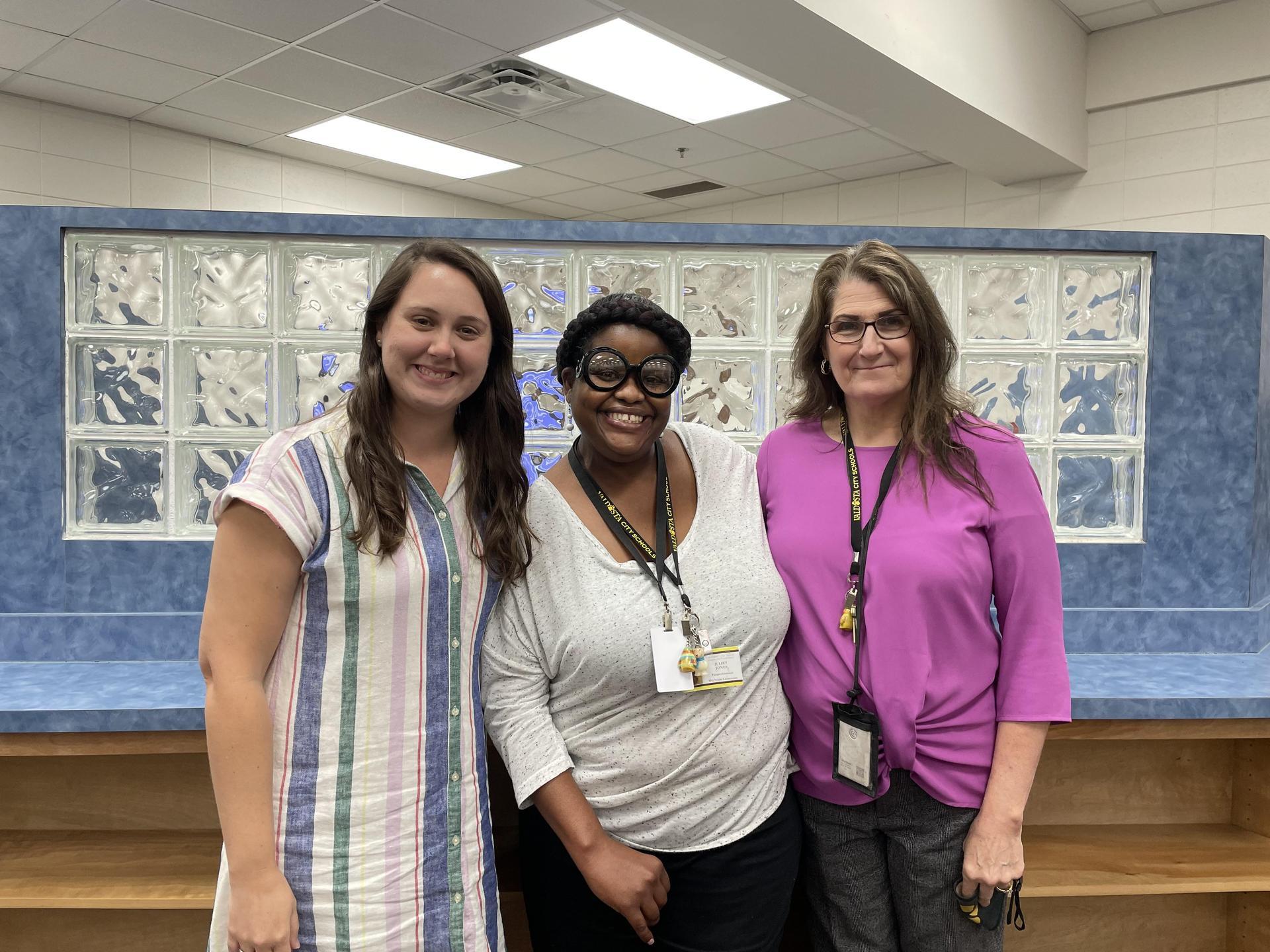 Ms. Unger (left), Ms. Jones (center), Ms. Mackinzie (right)