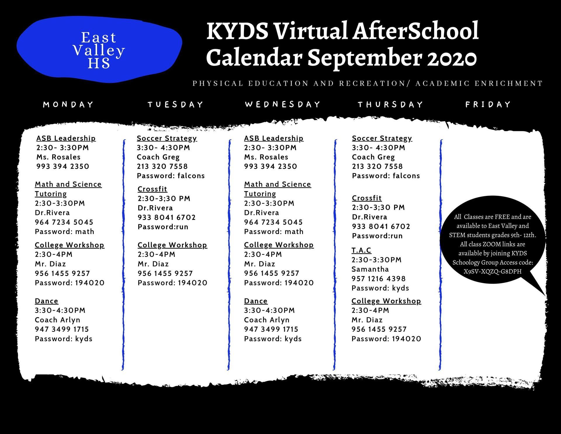 KYDS Calendar