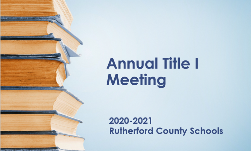 Annual Title 1 Meeting Thumbnail Image
