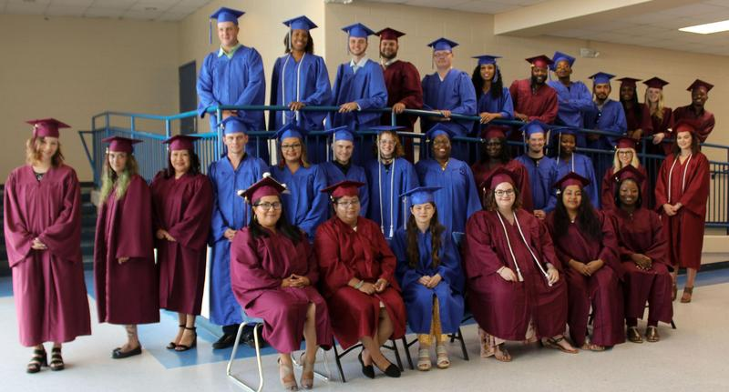 Some of the 160 adult education graduates