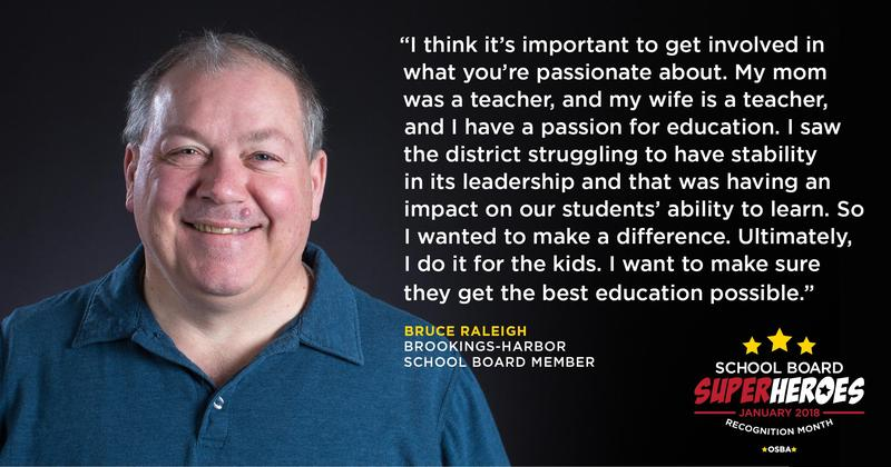 Bruce Raleigh school board quote