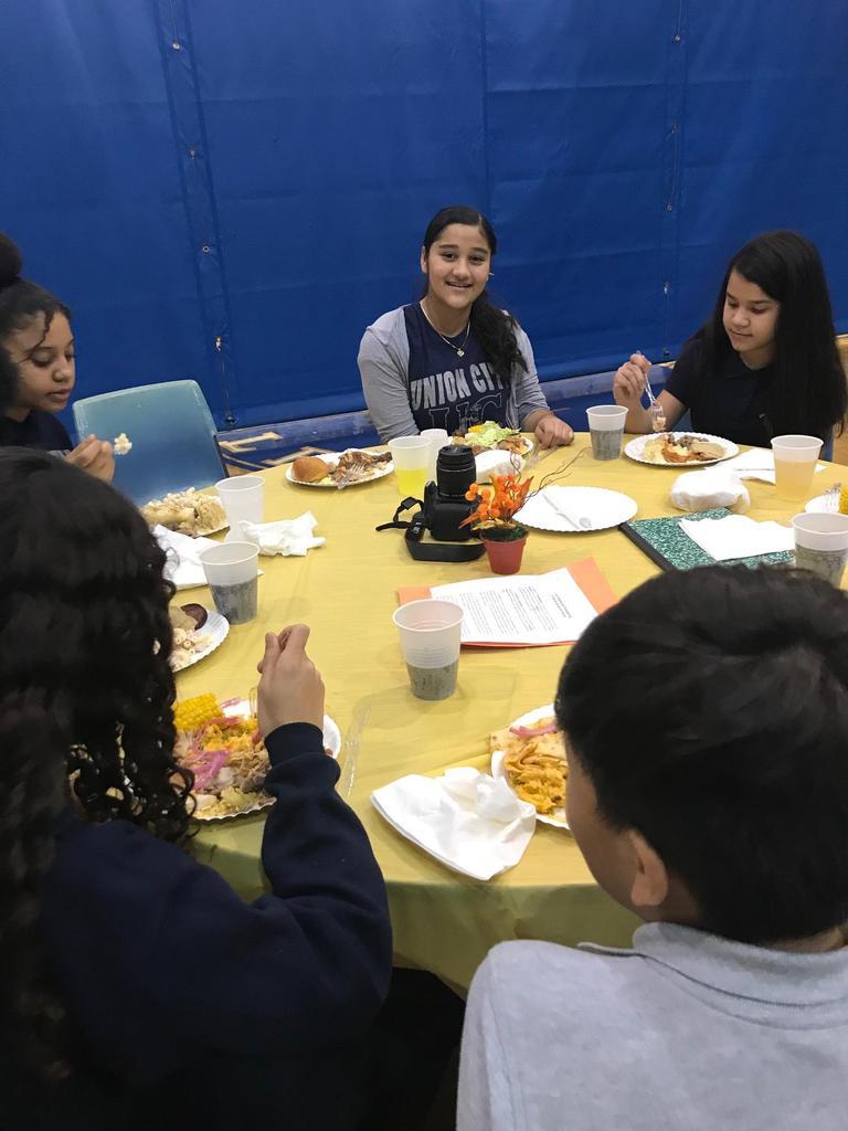 girls enjoying a meal together