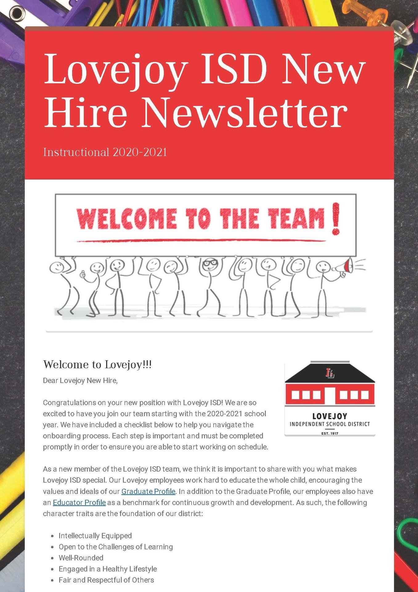 Instructional Newsletter