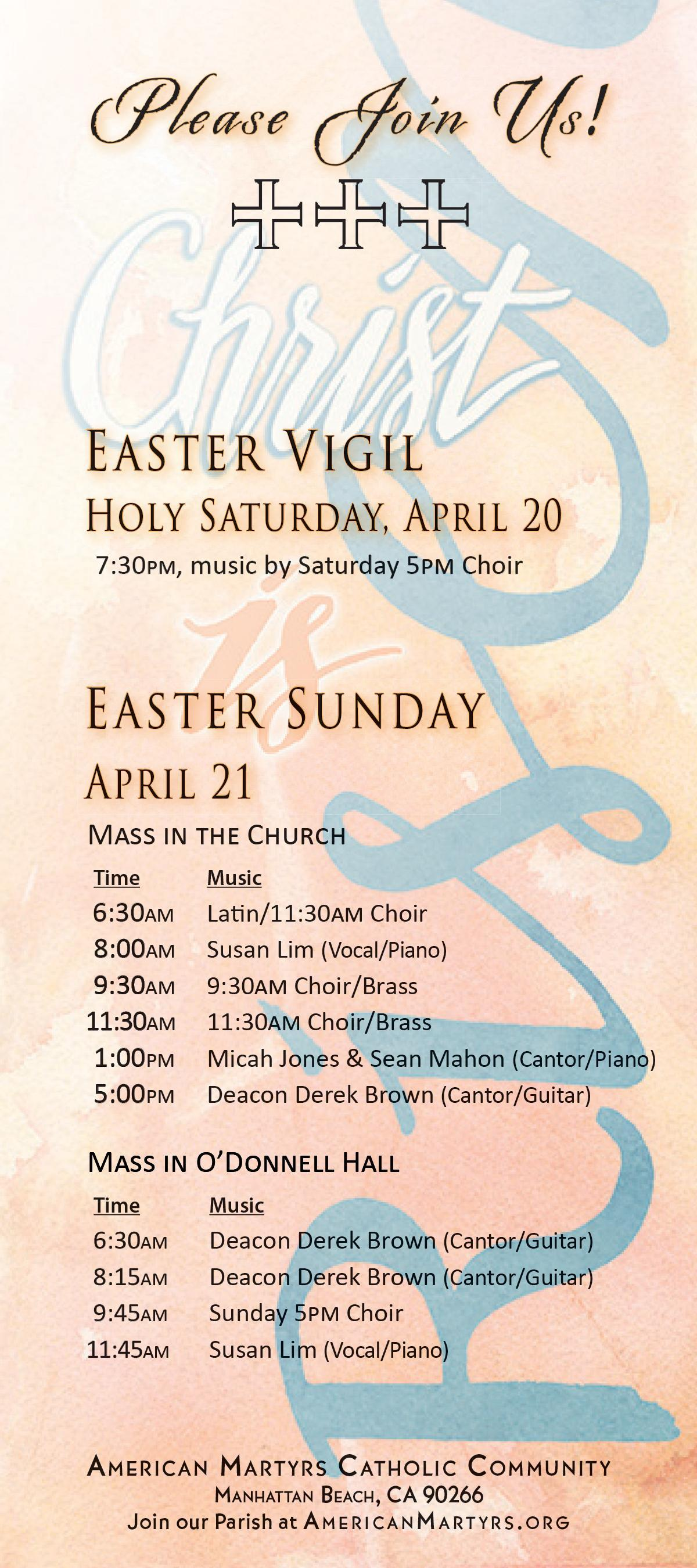 Please join us for our Easter Celebration! Image