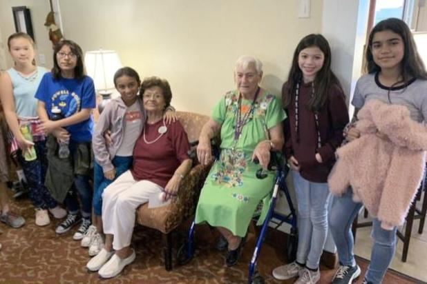Students Talking with Brookdale Residents