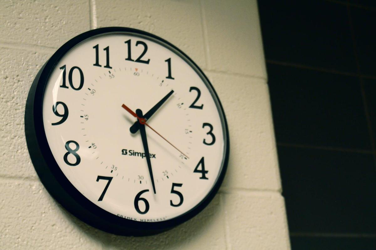 School Clock Pexels Image