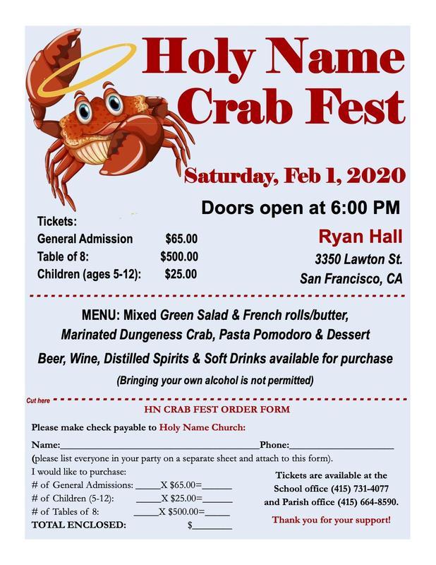 Holy Name Crab Fest Thumbnail Image