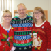 Transportation employees wearing their ugly sweaters.