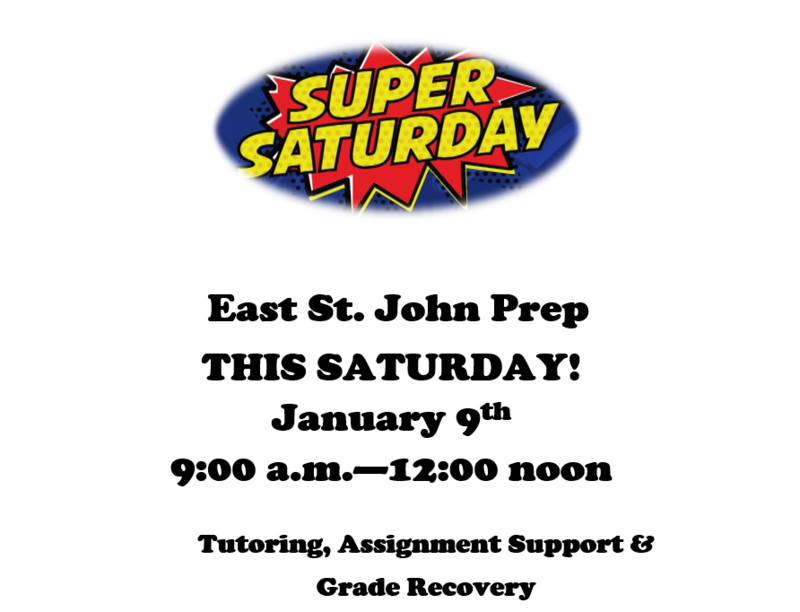SUPER SATURDAY  SUPPORT SESSION 1/9 from 9am until 12noon Thumbnail Image