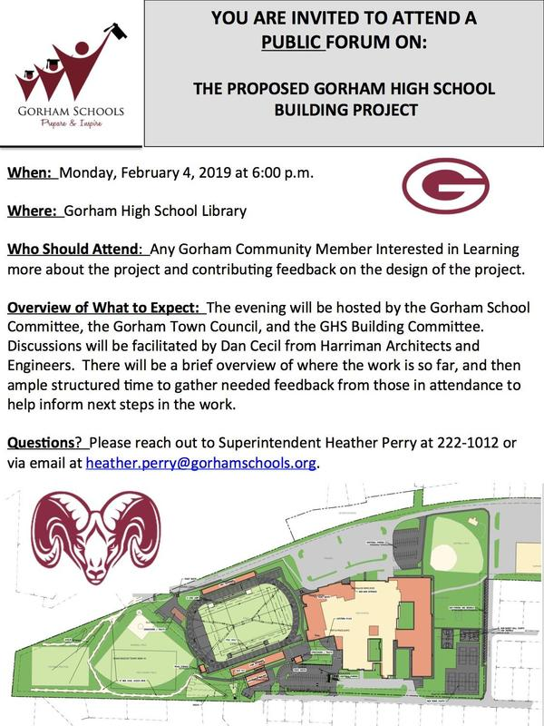 First GHS Building Project Public Forum  Will Be Monday, Feb. 4! Thumbnail Image