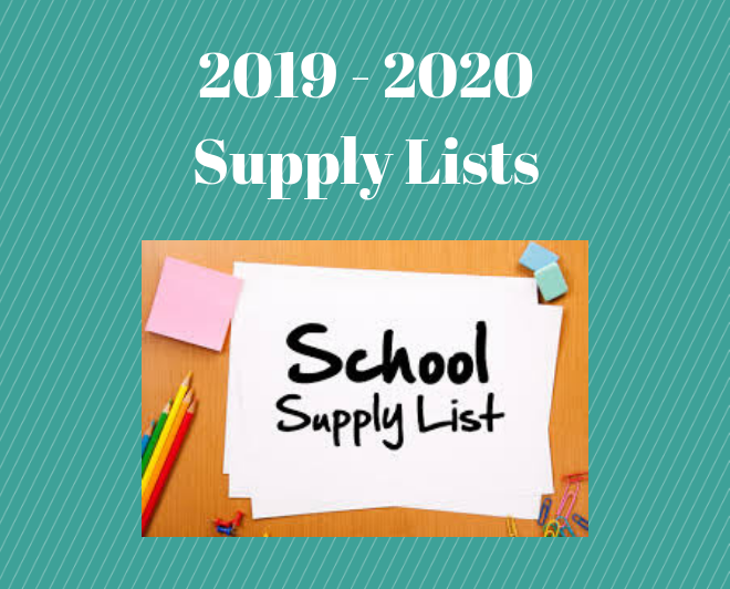 Elementary 2019-2020 School Supply Lists Featured Photo