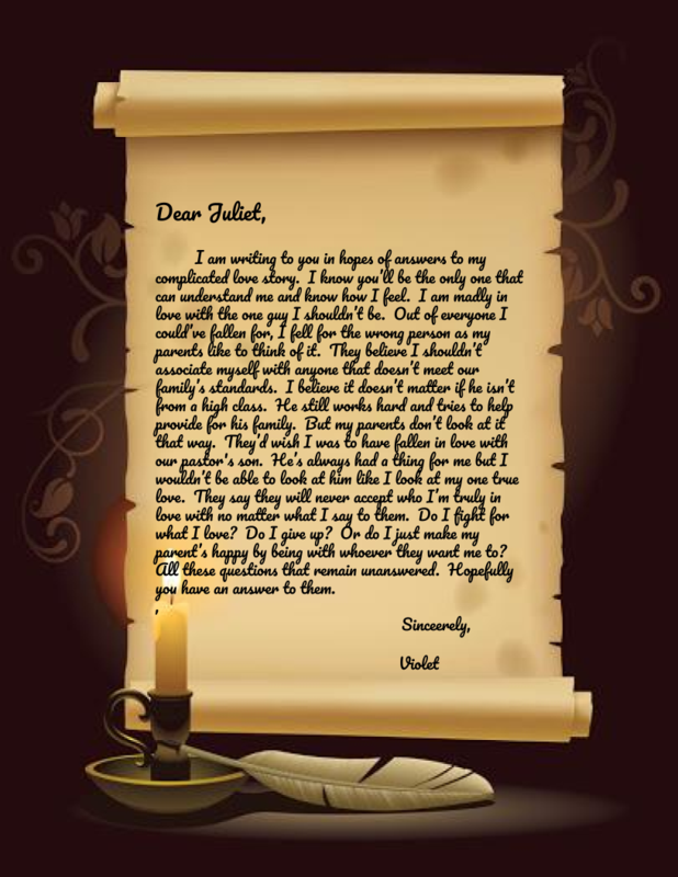 Letter to Juliet from Violet