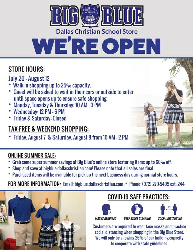 Big Blue Store is Open! Featured Photo